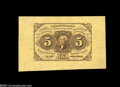 Fractional Currency:First Issue, Fr. 1231SP 5c First Issue Wide Margin Pair Superb Gem New.... (2 notes)