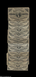 Fractional Currency:Third Issue, Fr. 1226 3c Third Issue.... (12 notes)