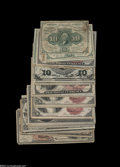 Fractional Currency:Group Lots, Forty-five higher grade Fractional Notes.... (45 notes)