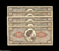 Military Payment Certificates:Series 461, Series 641 $10 Group.... (5 notes)