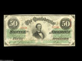 Confederate Notes:1863 Issues, T57 $50 1863....