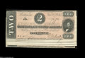 Confederate Notes:1864 Issues, T70 $2 1864.... (5 notes)