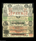 Confederate Notes:Group Lots, Confederate Counterfeit Collection.... (6 notes)