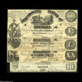 Confederate Notes:Group Lots, Four Different 1861 Confederate Counterfeits.... (4 notes)