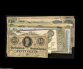 Confederate Notes:Group Lots, Confederate and Southern States Cocktail.... (14 notes)