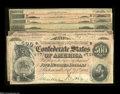 Confederate Notes:Group Lots, 1864 Type Set, $5 through $500.... (8 notes)