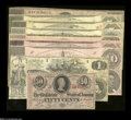 Confederate Notes:Group Lots, 1862 and 1863 CSA Issues.... (9 notes)