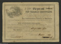 Confederate Notes:Group Lots, Richmond, VA- Confederate Non Taxable Certificate...