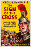 """Movie Posters:Drama, The Sign of the Cross (Paramount, 1932). Folded, Fine/Very Fine. One Sheet (27"""" X 41"""") Style B. Drama.. ..."""