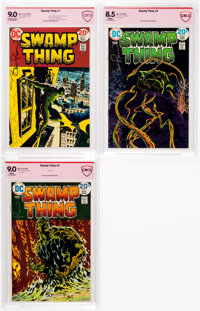 Swamp Thing #7-9 CBCS-Graded Bernie Wrightson Verified Signatures Group (DC, 1973-74).... (Total: 3 Comic Books)