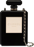 "Luxury Accessories:Bags, Chanel Limited Edition Black Plexiglass Perfume Bottle Bag. The Collection of Candy Spelling. Condition: 1. 5"" Wid..."