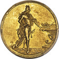 German States, German States: Saxony. Friedrich August I gold 2 Ducats 1696 UNCDetail (Countermarked) PCGS,...