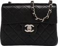 "Luxury Accessories:Bags, Chanel Black Quilted Lambskin Leather Mini Single Flap Bag with Silver Hardware. Condition: 2. 7"" Width x 6"" Height x ..."