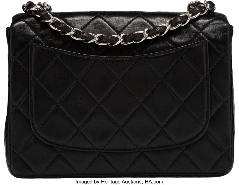 aa54cd75c54b56 Chanel Black Quilted Lambskin Leather Mini Single Flap Bag | Lot #58198 |  Heritage Auctions