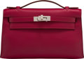 """Luxury Accessories:Bags, Hermès Rubis Swift Leather Kelly Pochette with Palladium Hardware. N Square, 2010. Condition: 2. 8.5"""" Width x 5"""" H..."""