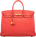 """Luxury Accessories:Bags, Hermès 40cm Rose Jaipur Togo Leather Birkin Bag with Gold Hardware. R Square, 2014. Condition: 3. 15.5"""" Width x 11..."""