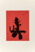 Prints & Multiples:Print, Robert Motherwell (1915-1991). Red Samurai, from Octavio Paz Suite, 1988. Lithograph and linocut printed in colors, ...