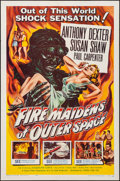 """Movie Posters:Science Fiction, Fire Maidens of Outer Space (Topaz, 1956). Folded, Very Fine-. One Sheet (27"""" X 41""""). Albert Kallis Artwork. Science Fiction..."""