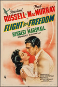 """Movie Posters:Drama, Flight for Freedom (RKO, 1943). Folded, Fine/Very Fine. One Sheet (27"""" X 41""""). Drama. From the Collection of Frank Buxton,..."""
