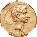 Ancients:Roman Imperial, Ancients: Augustus (27 BC-AD 14). AV aureus (20mm, 7.92 gm, 2h). NGC XF 5/5 - 2/5....