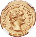 Ancients:Roman Imperial, Ancients: Tiberius (AD 14-37). AV aureus (21mm, 7.82 gm, 4h). NGC AU 5/5 - 3/5....