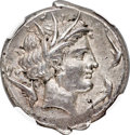 Ancients:Greek, Ancients: SICULO-PUNIC. Lilybaeum. Ca. 350-300 BC. AR tetradrachm (26mm, 17.13 gm, 1h). NGC Choice XF★ 5/5 - 5/5....