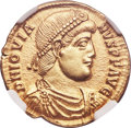 Ancients:Roman Imperial, Ancients: Jovian (AD 363-364). AV solidus (21mm, 4.44 gm, 7h). NGCChoice AU 5/5 - 3/5, edge marks....