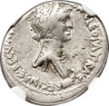 Ancients:Roman Republic, Ancients: Cleopatra VII of Egypt and Marc Antony, rulers of the East (37-31 BC). AR denarius (18mm, 3.77 gm, 12h). NGC VF 4/5 - 4/5....