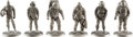 Explorers:Space Exploration, NASA Mercury through Shuttle Spacesuits: Set of Six Pewter Maquettes Directly from the Family Collection of Astronaut Richard ... (Total: 6 Items)