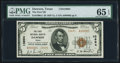 National Bank Notes:Texas, Dawson, TX - $5 1929 Ty. 2 The First NB Ch. # 10694 PMG Gem Uncirculated 65 EPQ.. ...