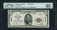 Dawson, TX - $5 1929 Ty. 2 The First NB Ch. # 10694 PMG Gem Uncirculated 65 EPQ