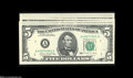 Error Notes:Blank Reverse (<100%), Fr. 1979-A $5 1988 Federal Reserve Notes. Gem CrispUncirculated.... (5 notes)