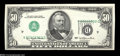 Error Notes:Inverted Third Printings, Fr. 2119-D $50 1977 Federal Reserve Note. Choice AboutUncirculated....