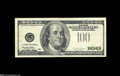 Error Notes:Third Printing on Reverse, Fr. 2175-B $100 1996 Federal Reserve Note. Very Fine+....