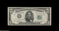 Error Notes:Skewed Reverse Printing, Fr. 1962-D $5 1950A Federal Reserve Note. Choice CrispUncirculated....