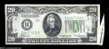 Error Notes:Attached Tabs, Fr. 2055-B $20 1934A Federal Reserve Note. About Uncirculated....