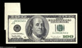 Error Notes:Attached Tabs, Fr. 2175-J $100 1996 Federal Reserve Note. Choice CrispUncirculated....