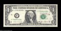Error Notes:Major Errors, Fr. 1913-F $1 1985 Federal Reserve Note. Choice CrispUncirculated....