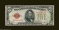 Small Size:Legal Tender Notes, Fr. 1526 $5 1928A* Legal Tender Note. Fine....