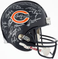 Football Collectibles:Helmets, 1985 Chicago Bears - Super Bowl Champs - Team Signed Helmet (30 Signatures)....