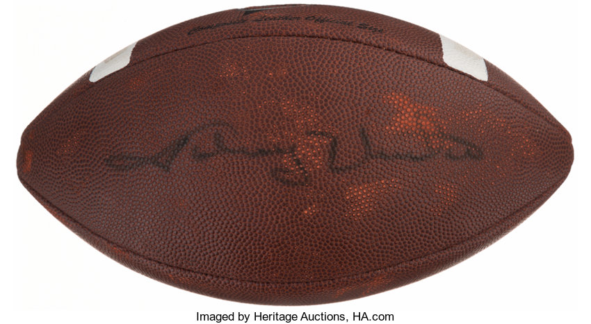 half off 856e1 edef9 Johnny Unitas Signed Football. Offered is a Wilson football ...