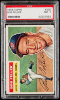 Baseball Cards:Singles (1950-1959), 1956 Topps Bob Feller #200 PSA NM 7....