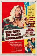 "Movie Posters:Crime, The Girl in Black Stockings (United Artists, 1957). Folded, Fine/Very Fine. One Sheet (27"" X 41""). Crime.. ..."