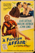"""Movie Posters:Comedy, A Foreign Affair (Paramount, 1948). Folded, Fine+. One Sheet (27"""" X 41""""). Comedy. From the Collection of Frank Buxton, of ..."""