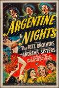 """Movie Posters:Comedy, Argentine Nights (Universal, 1940). Folded, Fine/Very Fine. OneSheet (27"""" X 41""""). Comedy. From the Collection of FrankBu..."""