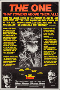 """The Towering Inferno (20th Century Fox, 1974). Rolled, Very Fine-. Poster (40"""" X 60"""") Review Style, John Berke..."""