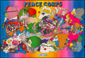 """Movie Posters:Miscellaneous, Peace Corps by Peter Max (Barnes Press, 1970). Rolled, Fine/Very Fine. Full-Bleed Recruiting Poster (73.75"""" X 50""""). Miscella..."""