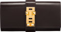 """Luxury Accessories:Bags, Hermès 29cm Chocolate Calf Box Leather Medor Clutch with Gold Hardware. K Square, 2007. Condition: 3. 11.5"""" Width ..."""