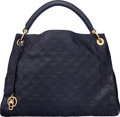 "Luxury Accessories:Bags, Louis Vuitton Navy Blue Monogram Empreinte Leather Artsy MM Bag.Condition: 2. 16"" Width x 12.5"" Height x 8.5""Depth..."