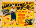 "Movie Posters:Musical, Cabin in the Sky (MGM, 1943). Folded, Fine+. Half Sheet (22"" X 28""). Musical.. ..."